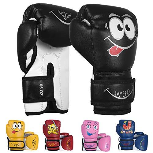 Jayefo Kids Boxing Gloves for Kids 4 6 Oz Training MMA Boys Girls Punching Bag Kickboxing Muay Thai Youth Junior Gloves…