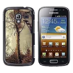 TaiTech / Prima Delgada SLIM Casa Carcasa Funda Case Bandera Cover Armor Shell PC / Aliminium - Árbol del otoño - Samsung Galaxy Ace 2