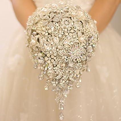 Iffo Silver Brooch Bouquet High End Custom Wedding Bridal Bouquets