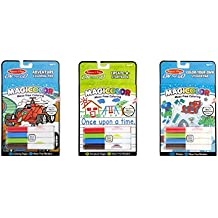 On the Go Magicolor Mess Free Coloring 3 item bundle: Adventure Coloring Pad, Blue Color your own sticker pad and Creat a storybook by Melissa and Doug