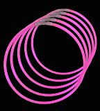 ": 22"" Lumistick Glowsticks Glow Stick Necklaces PINK (50 necklaces)"