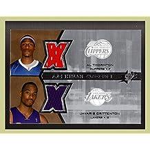 2007-08 SPx Freshman Orientation Tandems #TC Al Thornton Javaris Crittenton DUAL JERSEYS Clippers vs. Lakers (ast)