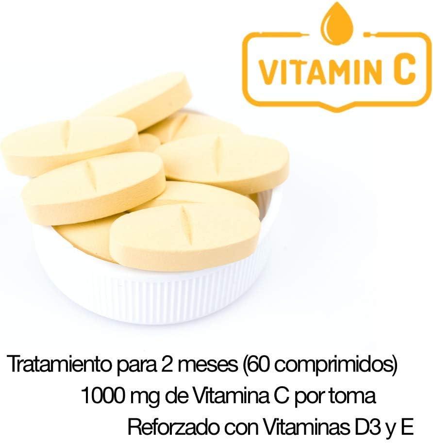 Vitamina C 1000 mg Vitamina E Vitaminas D3 pura 60 comprimidos multivitaminico para 2 meses para hombre, mujer y niños aumenta tus defensas refuerza el sistema inmunologico: Amazon.es: Salud y cuidado personal