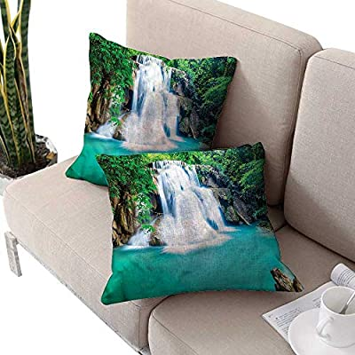 cobeDecor Waterfall Decorative Throw Pillow Case Pastoral Nature Design Art Designer Pillow Decorative Throw Pillow Case