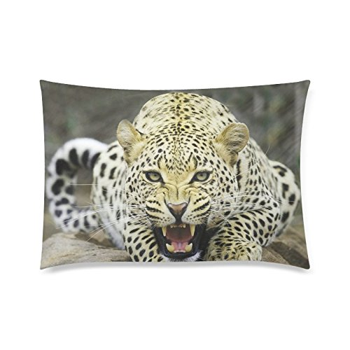Cheetah Wildlife Rectangle Sofa Home Decorative Throw Pillow Case Cushion Cover Cotton Polyester Twin Side Printing 20