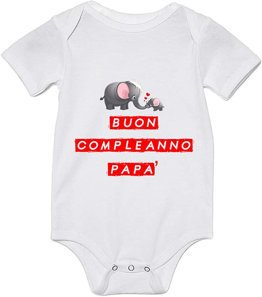 Overthetee Body Neonato pap/à Buon Compleanno pap/à Body Neonato Compleanno pap/à pap/à Idea Regalo Compleanno