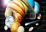 1/2 Sheet - Solar System Planets Space Birthday - Edible Cake/Cupcake Party Topper