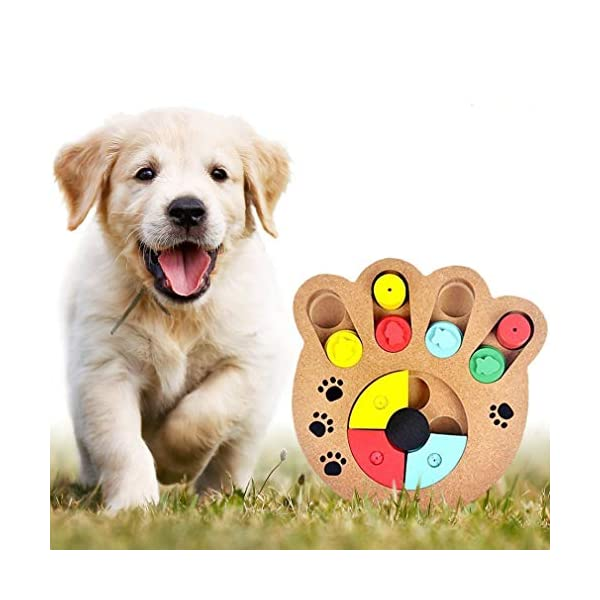 MEISO Unique Shuffle Puzzle Smart Toy for Puppies - Improve Concentration - Reduce hyperactivity - Fun Interactive IQ Game to Hide Treats in - Encourage Mental & Physical Skills of Pets 1