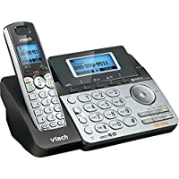 VTech DS6151 2-Line Cordless Phone System for Home or Small Business with Digital Answering System & Mailbox on each line, Silver