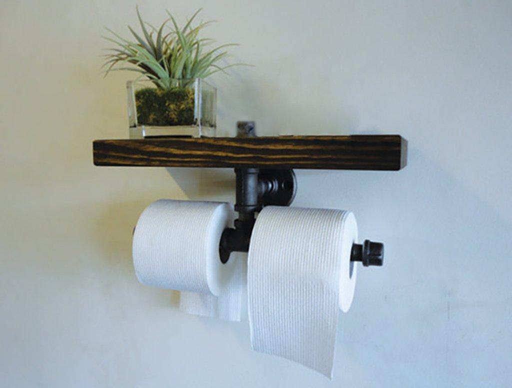 Deko Wandregal Retro Home Wasserrohr Tissue Towel Wandtuch mit ...