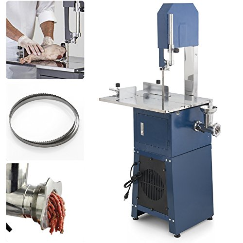 (550W Stand Up Meat Band Saw & Grinder Dual Electric Food Processor 2 Free Blades )