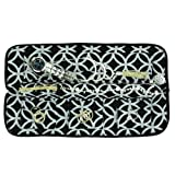 Travel Jewelry Organizer by No Knot | Tangle Free Necklace Carrier for Women that Protects and Keeps Jewelry Tangle-Free | Black & Silver