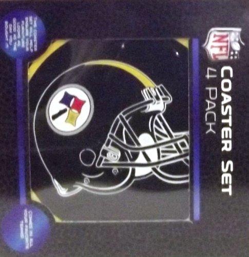 NFL Pittsburgh Steelers Coaster Set 4pk (Coaster Pittsburgh Steelers Set)