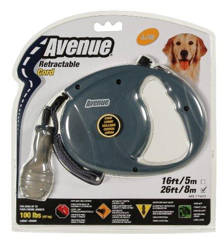 Avenue Retractable 26' Corded Leash for Dogs, Large, (Avenue Leash)