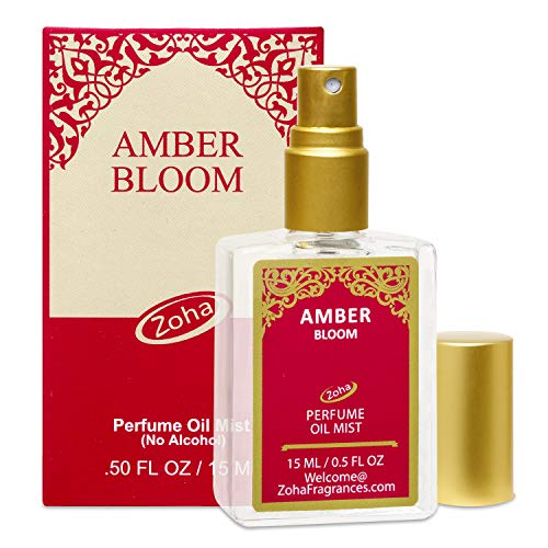 - Amber Bloom Perfume Oil Mist (No Alcohol) Amber Oil Fragrance - Essential Oils and Perfumes for Women and Men by Zoha Fragrances, 15 ml / 0.50 fl Oz