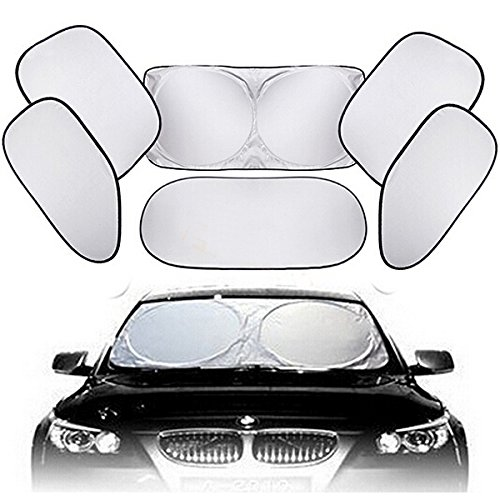 - Supercow Car Windshield Foldable Sun Shade 6 Piece UV Rays Reflector Block Heat Shield Protector Window Keep Vehicle Cool