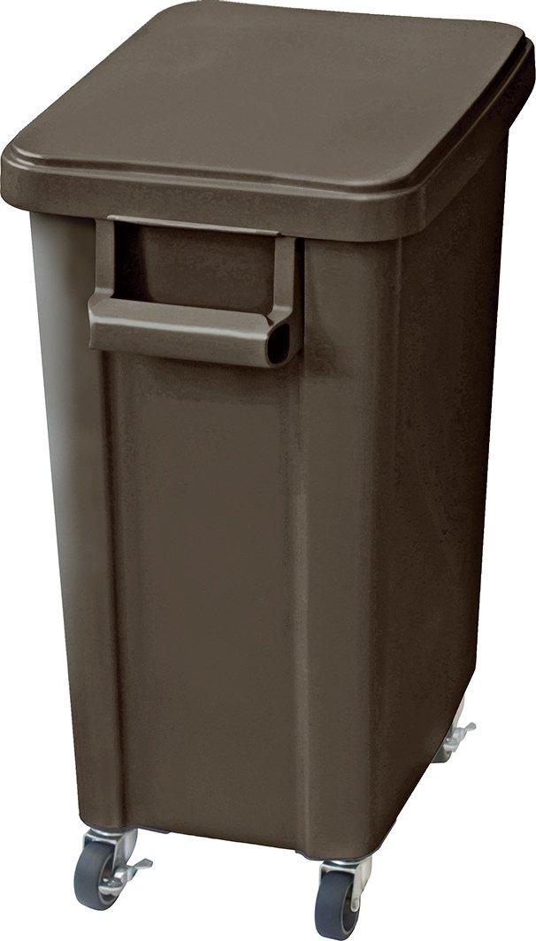リス 業務用ゴミ箱 厨房用キャスターペール 45L 排水栓付き ダークグレー 16049 B00VSYOFRQ 45L|ダークグレー ダークグレー 45L