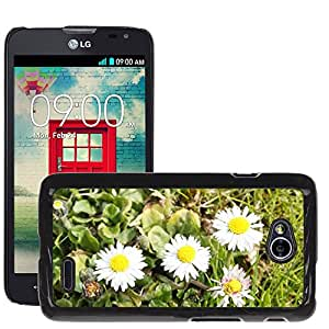 Hot Style Cell Phone PC Hard Case Cover // M00309599 Daisy Flowers Meadow Wildflowers // LG Optimus L70 MS323