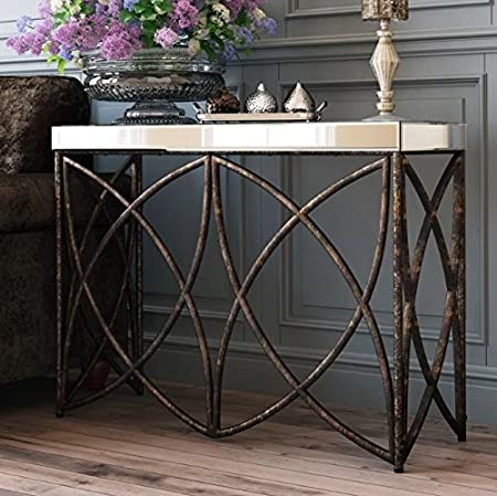 telephone console table. rustic industrial console table vintage retro glass furniture rectangular side metal small plant lamp telephone stand