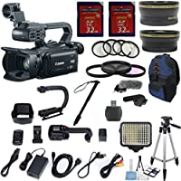 Canon XA25 Professional Camcorder w/ 20x HD Video Exclusive Celltime Bundle w/ .43x Wide Angle Lens +2.2x Telephoto +2pcs 32GB High Speed Memory Cards +22pc Accessory Kit - International Version