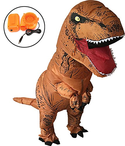 T-rex Costume Funny (Halloween Adult T-REX Dinosaur Inflatable Dress Up Fancy Cosplay Costume Suit)
