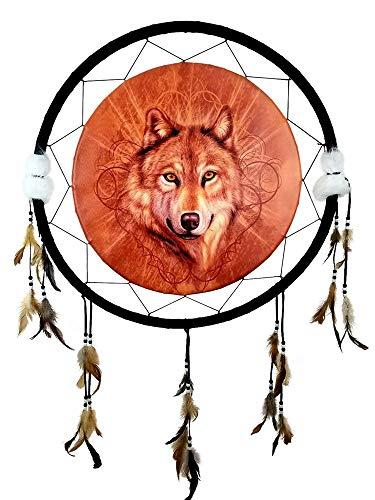 Imprints Plus Wolf Orange Dream Catcher, Mandella 24