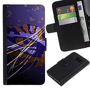 LASTONE PHONE CASE / Lujo Billetera de Cuero Caso del tirón Titular de la tarjeta Flip Carcasa Funda para Samsung Galaxy S6 SM-G920 / Design Tiger Eye