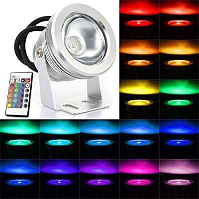 10W RGB Color Changing Waterproof Remote Control LED Flood Light