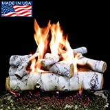 PayandPack Myard DELUXE 24″ inches SIERRA BIRCH Fire Gas Logs (LOGS ONLY) for Natural Gas/Liquid Propane Vented Fireplace Review