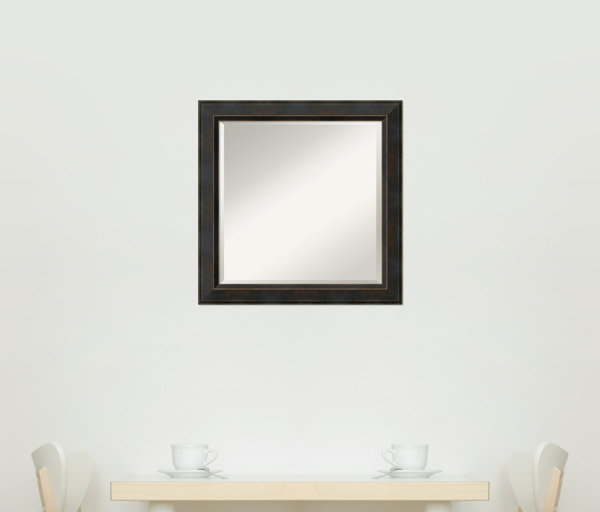 Wall Mirror Signore Square, Signore Bronze Wood: Outer Size 24 x 24'' by Amanti Art (Image #10)