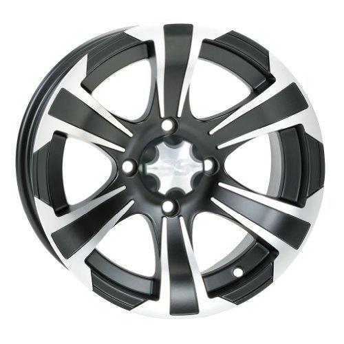 4/110 ITP SS312 Alloy Series Wheel 12x7 5.0 + 2.0 Matte Black BOMBARDIER HONDA JOHN DEERE KAWASAKI KYMCO POLARIS SUZUKI YAMAHA by ITP