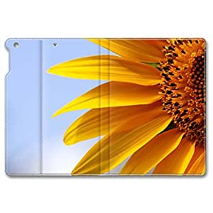 iPad Mini Leather Case,iPad Mini 2 Leather Case-Slim Fit,Luxury,Shock-Absorbent,Anti-Scratch,Smooth Touch Leather Case-Appealing Sunflower