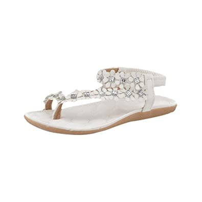 eb867c6b929ce1 Lolittas Women Boho Summer Beach Glitter Flip Flops Thong Sandal ,Pretty  Personalised Diamante Sparkly Jewelled Floral Lace up Toepost Slipper Shoes  Rubber ...