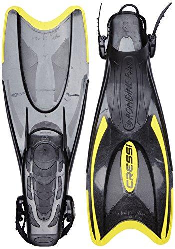 Cressi Unisex Schnorchel Flossen Palau, schwarz/gelb, M/L-41/44, CA115141