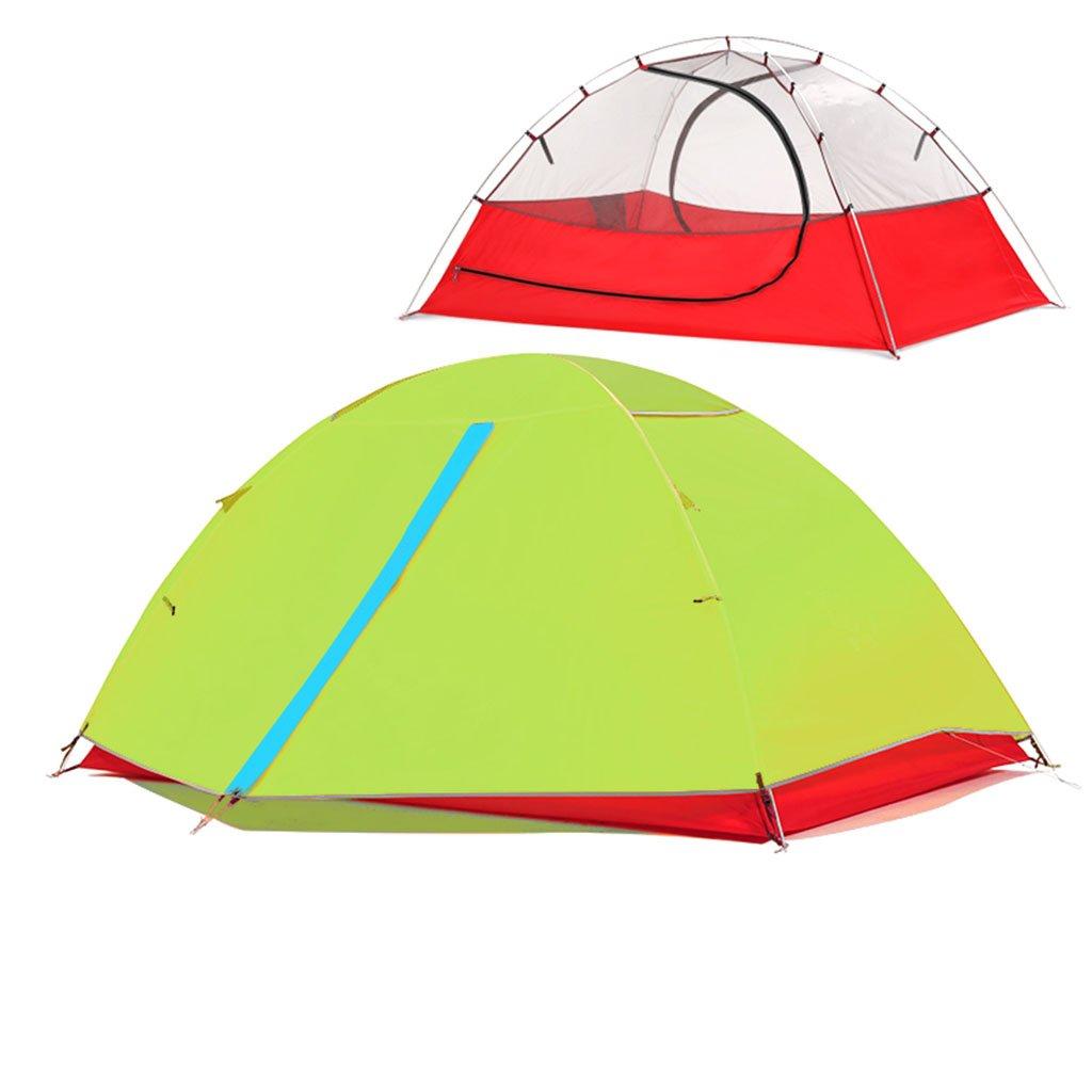 TENT-L ZP Zelt, Zelt Freien im Freien Zelt Sturm Prävention Ultralight Hand Ride Aluminium Rod Individuelle 2 Personen Camping huwaizhangpeng (Farbe   Grün, größe   1) c20bba