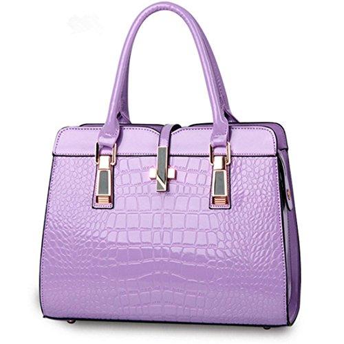 sfpong - Bolso mochila  para mujer blanco Purple-02