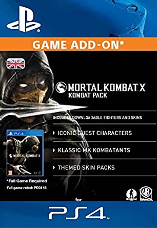 Mortal Kombat X Kombat Pack [PS4 Download Code - UK account