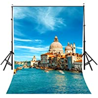 Lyly County 5 x 7 ft Venice Water City Photography Background Italy Architecture Photo Video Studio Backdrop Props Wall 1.5×2.1m BG057