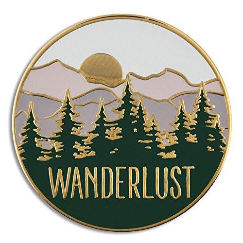 PinMart Wanderlust Wilderness Outdoor Adventure Lover Enamel Lapel Pin