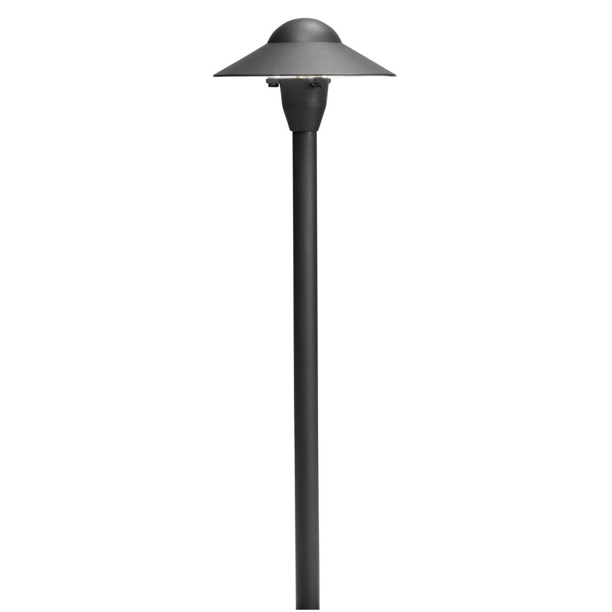 Kichler 15470BKT Dome Path Light 6-Inch, Textured Black