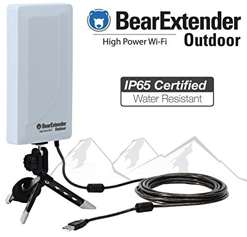 BearExtender Bearifi Outdoor RV & Marine High Power USB Wi-Fi Extender Antenna for PCs