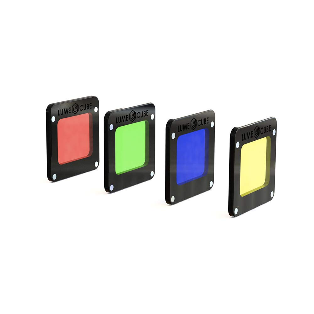 Lume Cube - RBGY Color Gels for Light-House (Includes one Red, Blue, Green and Yellow Magnetic Gel) LC-LHRGBY11