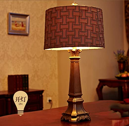 Amazon.com: PPWAN Table Lamp European Luxury French Living ...