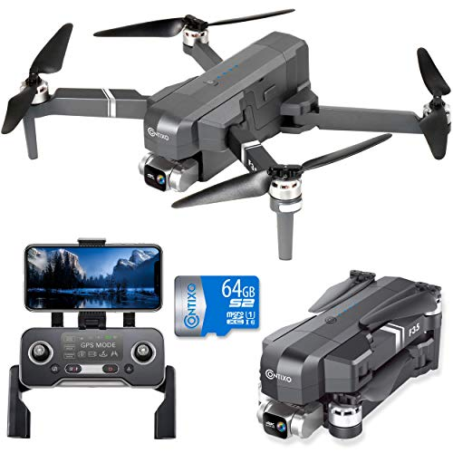 Contixo F35 GPS Drone with 4K UHD Camera 2-Axis Self stabilizing Gimbal 5G WiFi FPV RC Quadcopter Brushless Drone for…