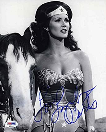 Lynda Carter Wonder Woman Signed 8x10 Photo Certified Authentic PSA/DNA COA