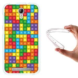 Funda Doogee Valencia 2 Y100 - Y 100 Pro, WoowCase [ Doogee Valencia 2 Y100 - Y 100 Pro ] Funda Silicona Gel Flexible Pixel - Juego Arcade Tetris, Carcasa Case TPU Silicona - Transparente