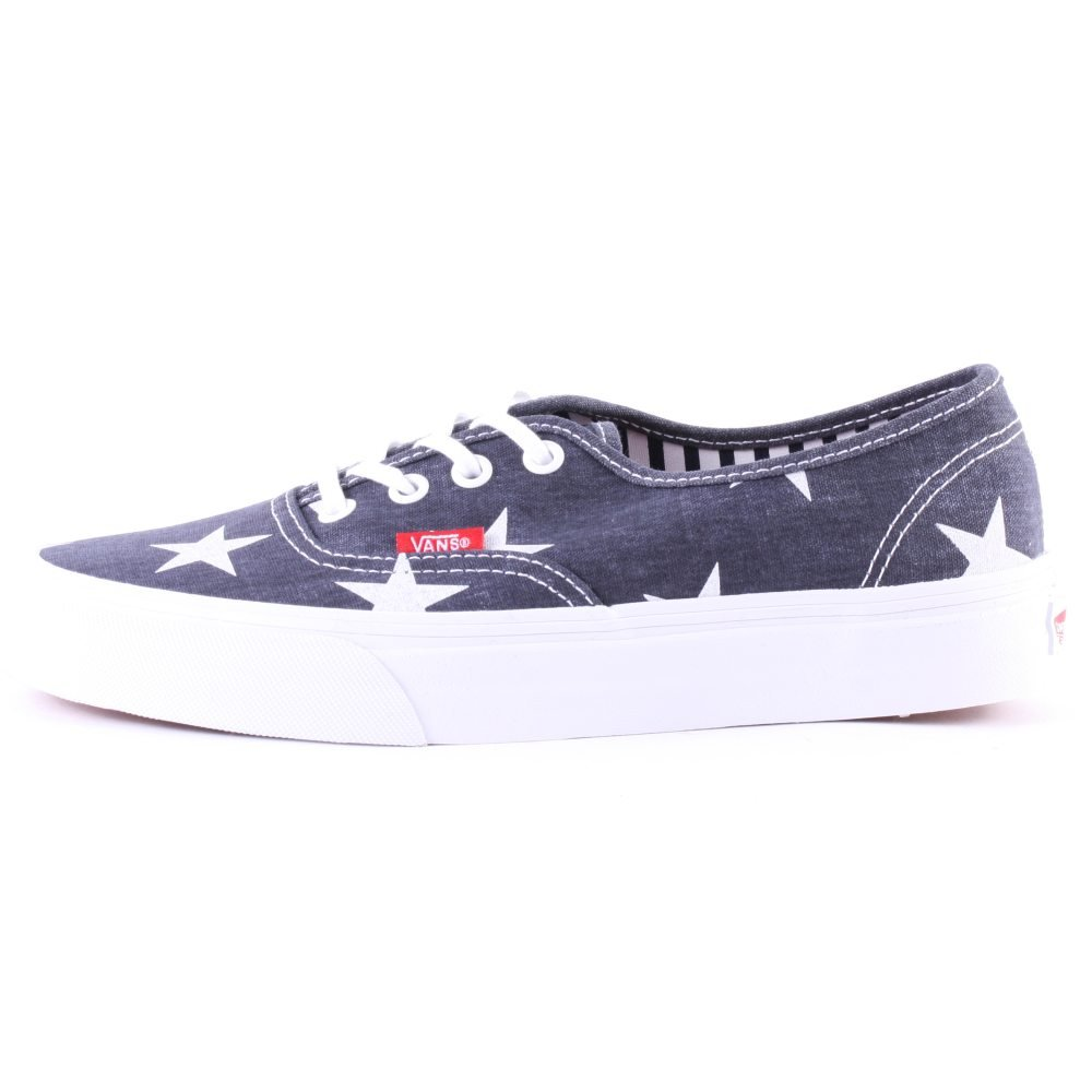 donna Trendy in blu tomaia VANS bianco con tessuto scarpe Sneakers qEPxw7
