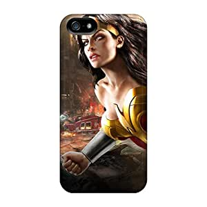Hot Tpu Cover Case For Iphone/ 5/5s Case Cover Skin - Wonder Woman Dc Universe Online