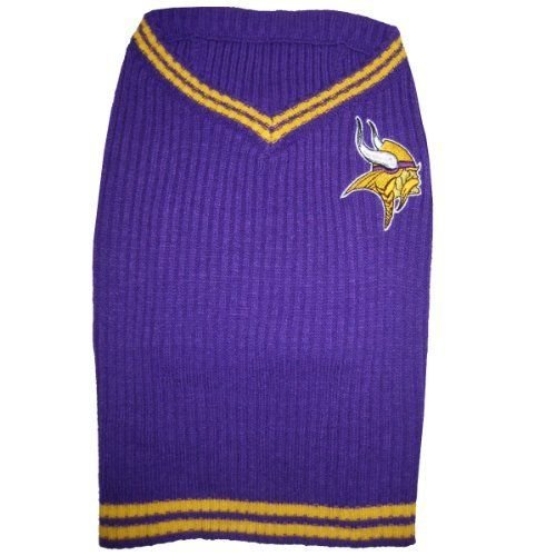 Cheap MINNESOTA VIKINGS Dog Pet EMBROIDERED Sweater ★ ALL SIZES ★ Licensed NFL (Large)