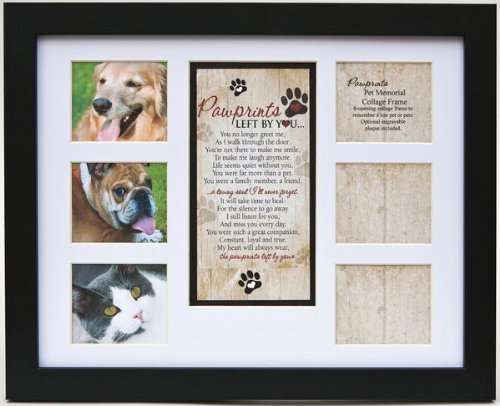 Pet Memorial Collage Frame for Dog or Cat with Sympathy
